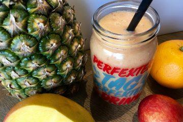 ananas smoothie mit apfel