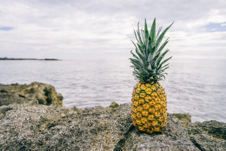 Ananas-Ingwer-Smoothie mit Zimt
